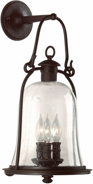 "Troy Owings Mill 21"" Outdoor Wall Lamp - Bronze B9463NB"