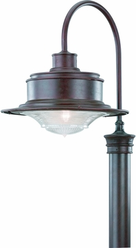 Troy South Street Outdoor Post Light - Old Rust P9394OR