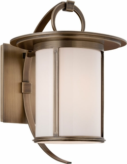 "Troy Wright 10.75"" Exterior Wall Sconce - Brass B3241"