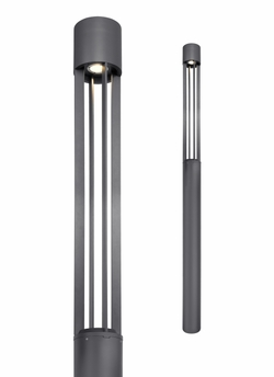 Turbo LED Charcoal Outdoor Light Column 700OCTUR8301240HUNV1S