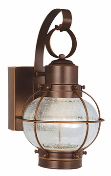 """Vaxcel Chatham 12"""" Outdoor Wall Sconce CT-OWD060BBZ"""