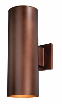 "Vaxcel Chiasso 14.25"" Bronze Outdoor Wall Sconce CO-OWB052BZ"