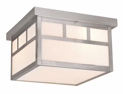 Vaxcel Mission Stainless Steel Outdoor Ceiling Light OF14611ST
