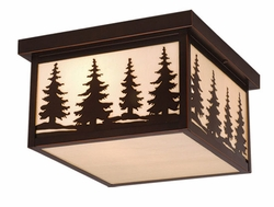 Vaxcel Yosemite Exterior Ceiling Light OF33412BBZ