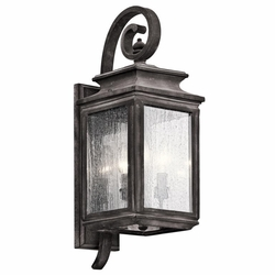 "Wiscombe Park 21.75"" Outdoor Wall Sconce Lighting By Kichler - 49502WZC"