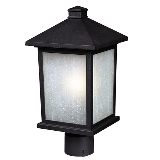 Z lite holbrook 16 outdoor post light fixture black 507phm bk aloadofball Choice Image