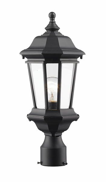 Z Lite Melbourne 18 5 Outdoor Post Lamp Black 540phm Bk