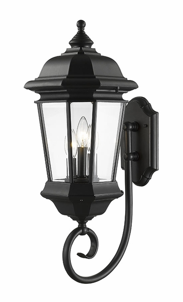 Z Lite Melbourne 25 5 Outdoor Lighting Sconce Black 540b Bk