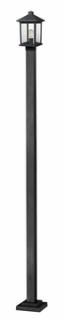 "Z-Lite Portland 110"" Outdoor Post Light - Black 531PHMS-536P-BK"