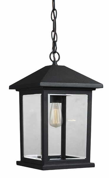 z lite portland 13 5 outdoor hanging light fixture black 531chm bk
