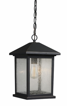 "Z-Lite Portland 13.5"" Outdoor Pendant Light - Bronze 531CHM-ORB"