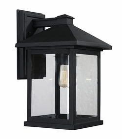 "Z-Lite Portland 15.75"" Outdoor Wall Lighting - Black 531B-BK"