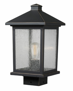 "Z-Lite Portland 15"" Outdoor Lamp Post - Bronze 531PHMS-ORB"