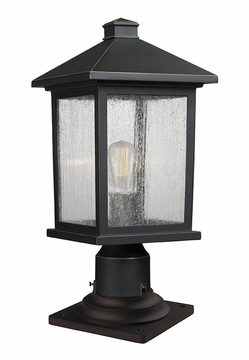 "Z-Lite Portland 17.75"" Outdoor Post Lamp - Bronze 531PHMR-533PM-ORB"