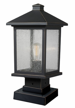 "Z-Lite Portland 17"" Outdoor Post Lamp - Bronze 531PHMS-SQPM-ORB"