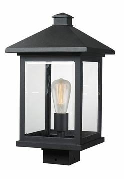 "Z-Lite Portland 17"" Outdoor Post Lighting Fixture - Black 531PHBS-BK"