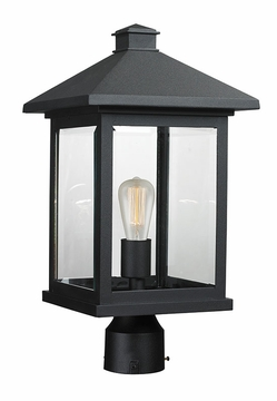 "Z-Lite Portland 18.5"" Outdoor Post Lighting - Black 531PHBR-BK"