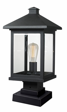 "Z-Lite Portland 19.5"" Outdoor Post Light - Black 531PHBS-SQPM-BK"