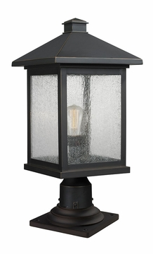 "Z-Lite Portland 20.25"" Outdoor Post Lantern - Bronze 531PHBR-533PM-ORB"