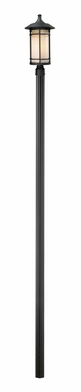 "Z-Lite Woodland 115"" Outdoor Lighting Post Lamp - Black 527PHB-520P96-BK"