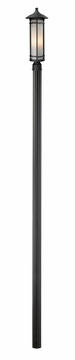 "Z-Lite Woodland 116"" Outdoor Lamp Post - Black 529PHM-520P96-BK"