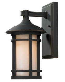"Z-Lite Woodland 12"" Exterior Wall Lighting - Bronze 528S-ORB"