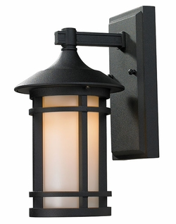 "Z-Lite Woodland 12"" Outdoor Wall Sconce Lighting - Black 527S-BK"