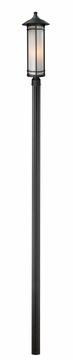 "Z-Lite Woodland 121.75"" Outdoor Post Lantern - Black 529PHB-520P96-BK"