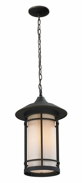 "Z-Lite Woodland 14.25"" Outdoor Hanging Lamp - Bronze 528CHM-ORB"