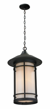 "Z-Lite Woodland 14.25"" Outdoor Hanging Lighting - Black 527CHM-BK"