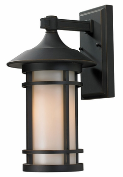 "Z-Lite Woodland 15"" Outdoor Wall Lamp - Bronze 528M-ORB"