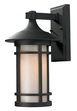 "Z-Lite Woodland 15"" Outdoor Wall Sconce - Black 527M-BK"