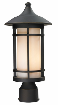 "Z-Lite Woodland 17"" Outdoor Post Lamp - Bronze 528PHM-ORB"