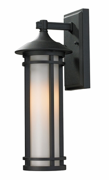 "Z-Lite Woodland 17"" Outdoor Wall Lamp - Black 529S-BK"