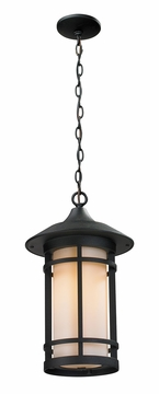 "Z-Lite Woodland 18"" Outdoor Pendant - Black 527CHB-BK"