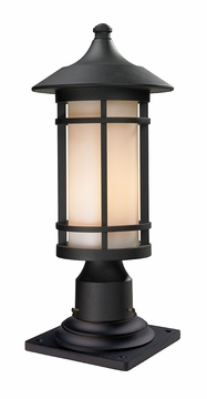 "Z-Lite Woodland 19"" Outdoor Post Lamp - Black 527PHM-533PM-BK"