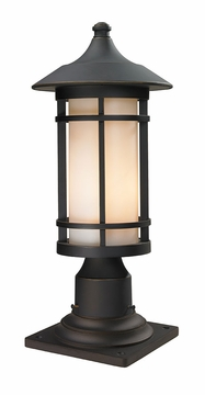 "Z-Lite Woodland 19"" Outdoor Post Lighting Fixture - Bronze 528PHM-533PM-ORB"