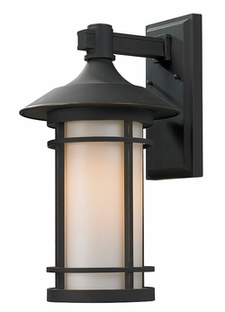 "Z-Lite Woodland 19"" Outdoor Wall Light - Bronze 528B-ORB"