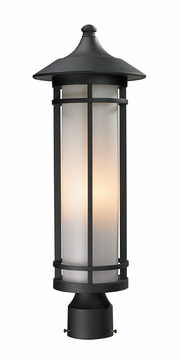 "Z-Lite Woodland 22.25"" Exterior Post Light - Black 529PHM-BK"