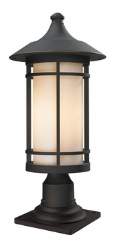 "Z-Lite Woodland 23"" Outdoor Lamp Post - Bronze 528PHB-533PM-ORB"