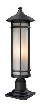 "Z-Lite Woodland 24"" Outdoor Post Light Fixture - Black 529PHM-533PM-BK"
