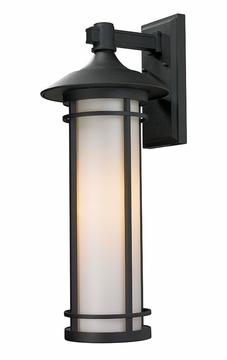 "Z-Lite Woodland 25.5"" Outdoor Wall Sconce Lighting - Black 529B-BK"