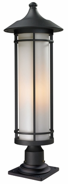 "Z-Lite Woodland 29.75"" Exterior Post Lamp - Black 529PHB-533PM-BK"