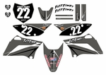 KLX110 Graphics Kit (Gray) Arrow Series by Fast Times 2010-2020