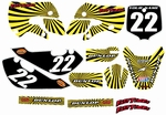 Kawasaki KLX 110 Graphics Kit 2002-2009 (Yellow) Swirl Series by FastTimes
