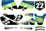 Kawasaki KLX 110 Graphics Kit 2002-2009 (Blue) Stripe Series by FastTimes