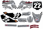 Kawasaki KLX 110 Graphics Kit 2002-2009 (Black) Swirl Series by FastTimes