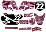 Kawasaki KLX 110 Graphics Kit 2002-2009 (Pink) Swirl Series by FastTimes