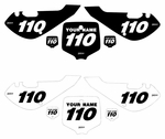 "Kawasaki KLX110 2002-2009 ""B&W"" Pre-Printed Backgrounds by Fast Times"