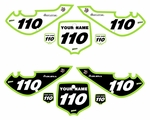 "Kawasaki KLX110 2002-2009 ""Bold Pro"" Pre-Printed Backgrounds by fast Times"